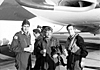 Crew of XH651, Akrotiri.  L to R front, Dick Lumb, Dicky Hyde and Chris Wren [Chris Wren]